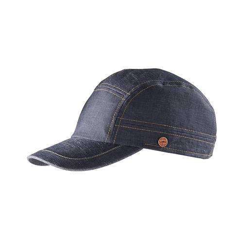 Mayser Denim Look Baseball Cap Fashionably important like other denim caps, but much lighter and airier. By Mayser.