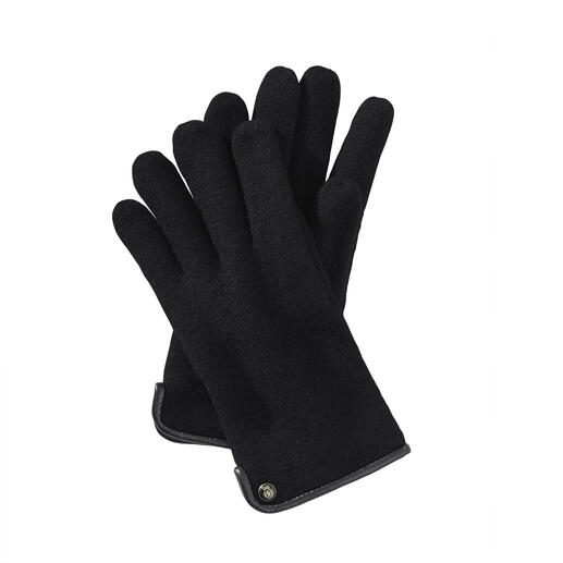 Roeckl Felted Wool Men's Gloves Much softer (and more weatherproof) than normal woollen gloves – thanks to fine felted wool.