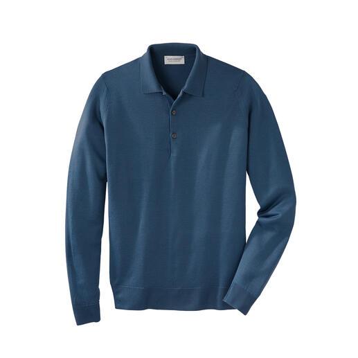 John Smedley 30 Gauge Longsleeve Polo Rare 30 gauge fine knitwear. Finest New Zealand merino wool. By John Smedley, England.