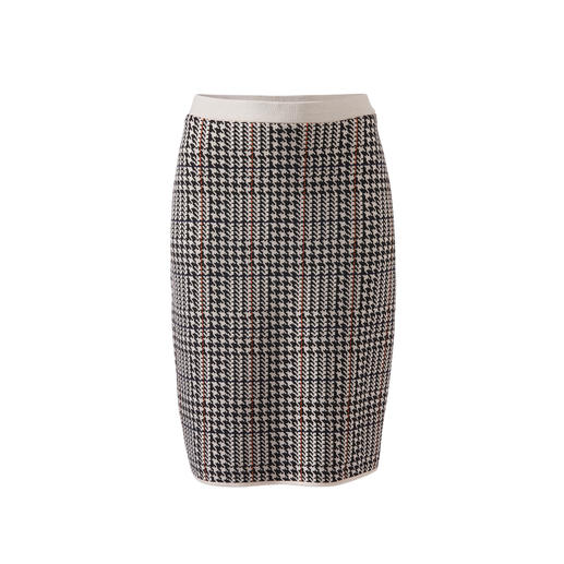 Dogstooth Knitted Jacket or Skirt A catwalk look. Made of fine, gently warming stretch merino wool.