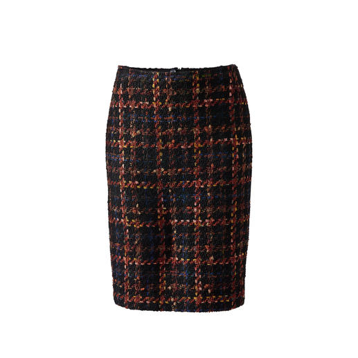 Bouclé Ribbon Skirt - New look for the classic checked skirt: Thanks to the bouclé texture.