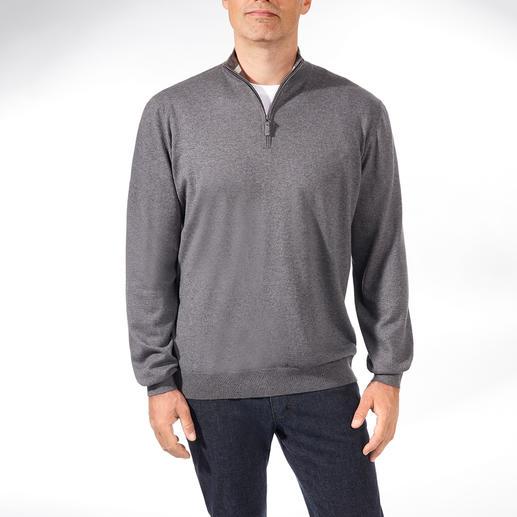Alan Paine Year-round Zip-neck Pullover