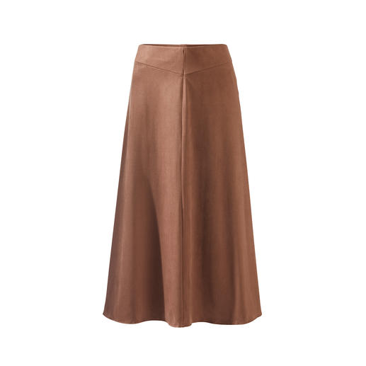 Seductive Alcantara® skirt The trendy skirt made of velvety soft Alcantara®: Looks like suede, but is more comfortable and easy to clean.