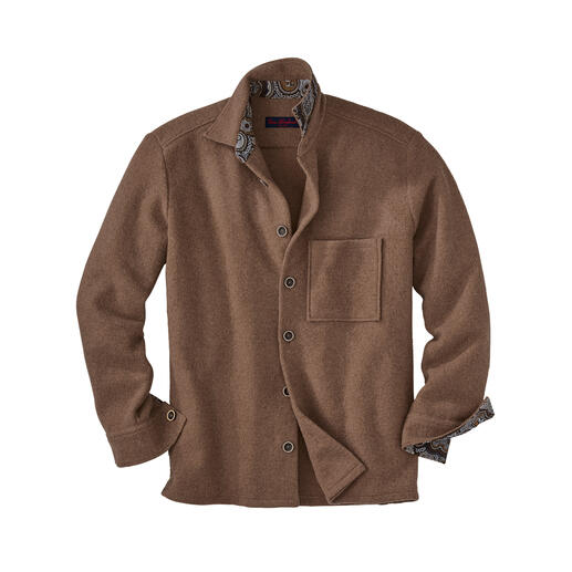 Alpaca Wool Overshirt Now bang on-trend: Classic workwear overshirt. Latest trend: Lighter thanks to rare alpaca wool.