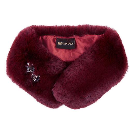 "Loevenich Faux Fur Collar The warm, cuddly soft fake fur collar: A ""fur"" you can wear with a clear conscience."