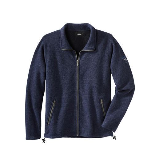 Tencel® Felted Wool Men's Jacket Your most comfy outdoor jacket: Completely weatherproof, yet made of all-natural fibres.