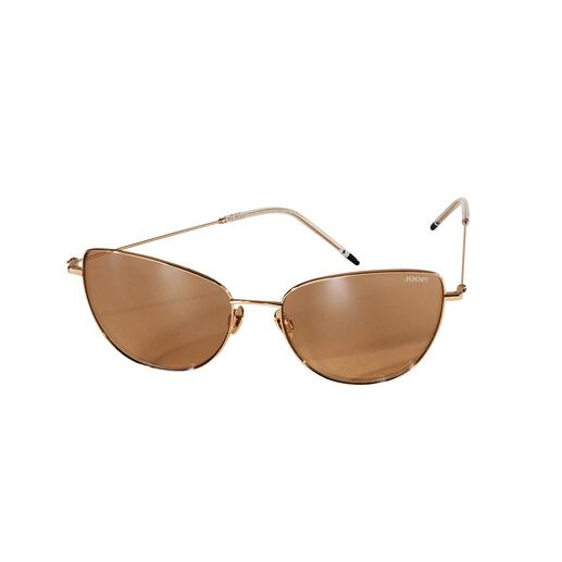 The glamorous key fashion item in cat-eye look. By JOOP! The glamorous key fashion item in cat-eye look. By JOOP! Sunglasses in gold/gold.
