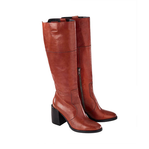 Ducanero® vintage boots Contemporary shaft height and heel shape. Hip vintage look. From Ducanero®.