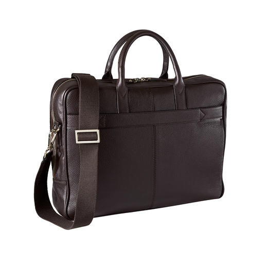 L'Aiglon Briefcase Elegant cow nappa leather. Well-known design. Reasonably priced. The briefcase by L'Aiglon, Paris.