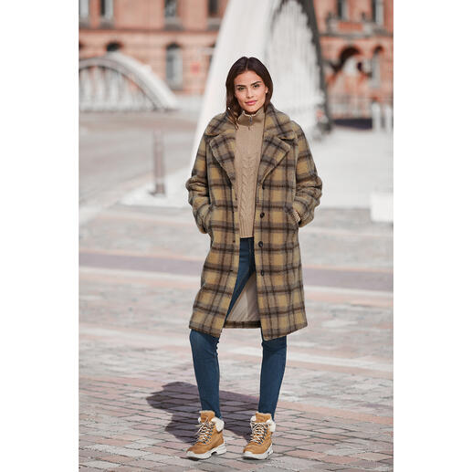 molliolli Teddy Bear Cheque Coat Winter coat favourite for 2020/2021: The teddy bear coat from molliolli ECO-FUR.