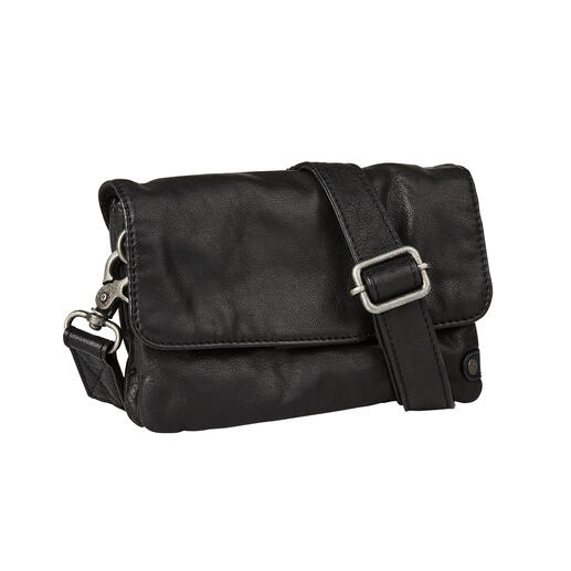 Depeche 2-in-1 Mini Clutch Vintage handbag by day. Trendy casual cross-body bag by night. By Danish leather specialist Depeche.