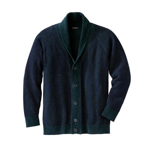 Junghans 1954 Chenille Cardigan Velvety soft. Chic. Durable. And yet so very rare. The shawl collar cardigan in fashionable chenille yarn.