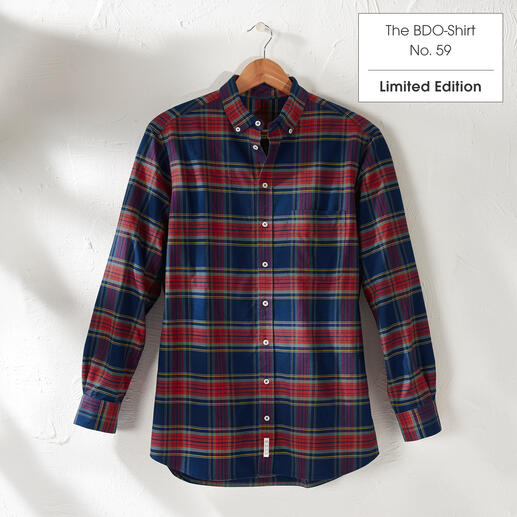 The BDO Shirt, Limited Edition No. 59, Regular Fit Meet a good old friend. And forget that shirts always need ironing.