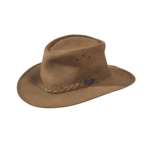 Rogue suede bush hat The original from South Africa: The classic bush hat for women and men. Made in the old tradition by Rogue.