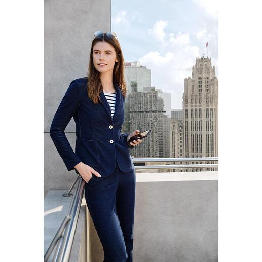 T-Jacket Jersey Denim Look Blazer or Trousers