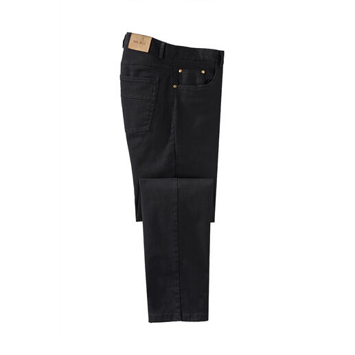 Perma Black Jeans Finally a truly colourfast pair of jeans. Black stays black. Wash after wash.