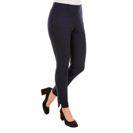 "Seductive Pull-On Trousers ""Sabrina"", Navy A proven success for more than 10 years. And it's still a hot fashion trend."