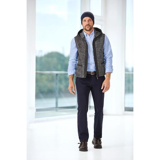 Steinbock Felted Wool Hooded Waistcoat