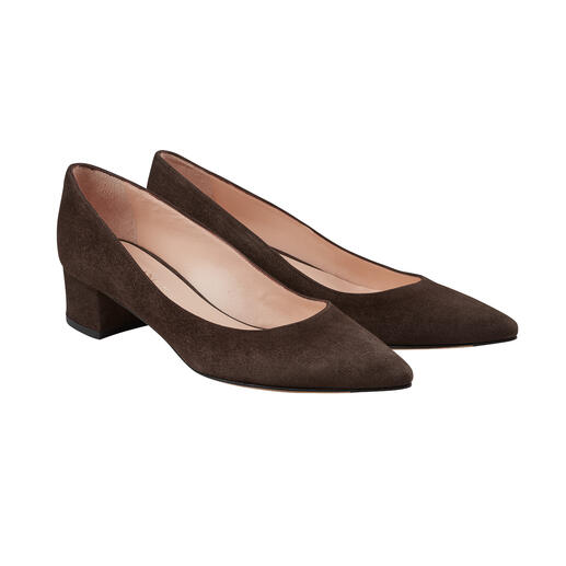Casanova Ballerina Pumps More elegant than ballerinas, more comfortable than heels: Ballerina pumps with block heel.
