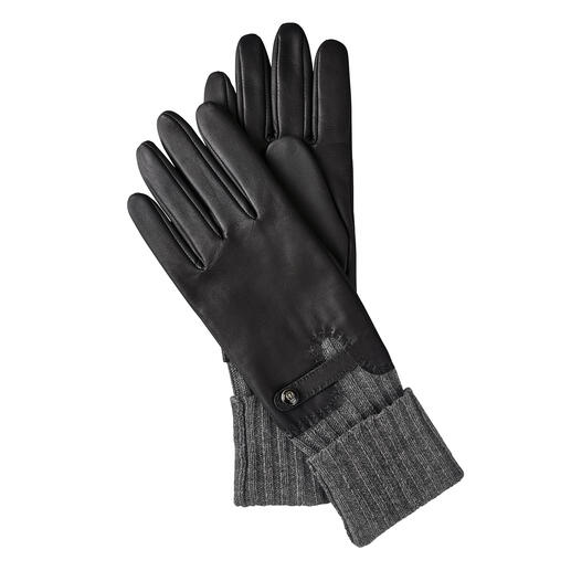 Premium protection from the cold: Chic leather gloves with long cuff. Premium protection from the cold: Chic leather gloves with long cuff. By Roeckl.