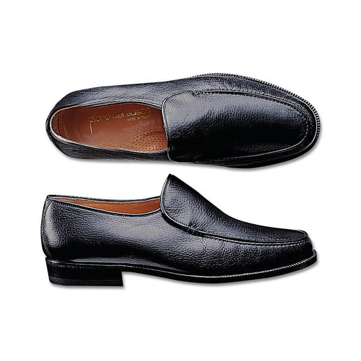 Deerskin Slip-Ons Comfortable Italian slip-ons in high quality deerskin. Wide feet look narrower.