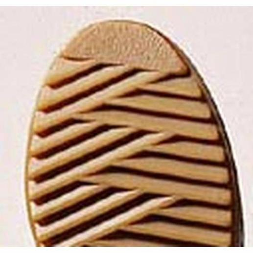 The self-cleaning grip sole is sure-footed and after a hard stomp it is clean again.