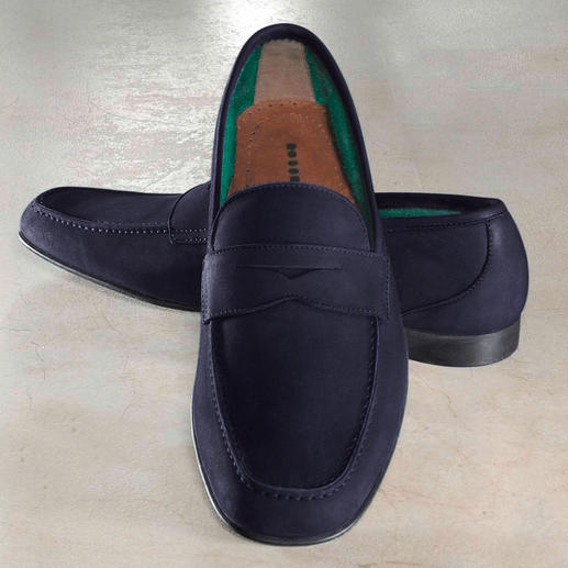 Fratelli Rossetti Barefoot Moccasin Towelling lining makes these moccasins ideal to wear barefoot.