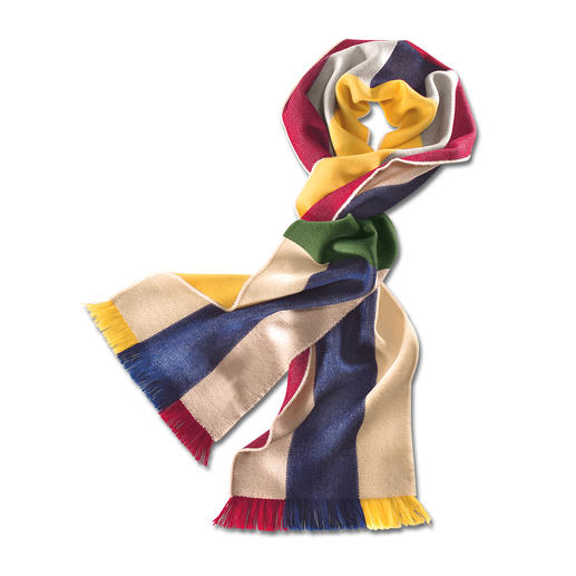 Johnstons Rainbow Scarf One coloured scarf - countless combinations. In superfine merino wool – soft, light and warm.