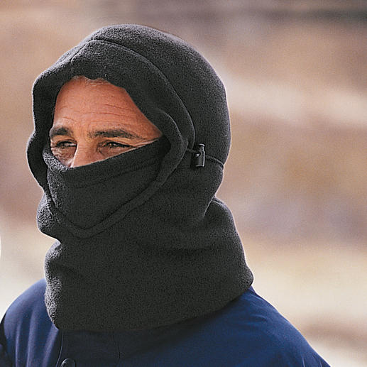 Balaclava A rarity: The Balaclava made of soft and cuddly polar fleece.
