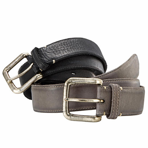 Bufalino Leather Belt Sturdy but still surprisingly soft. The belt in rare buffalo leather. Handmade by Fausto Colato, Italy.