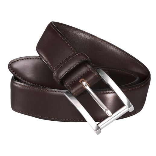 Full-Grain Leather Belt Handwork, solid brass and Italian cowhide leather. Hidden quality.