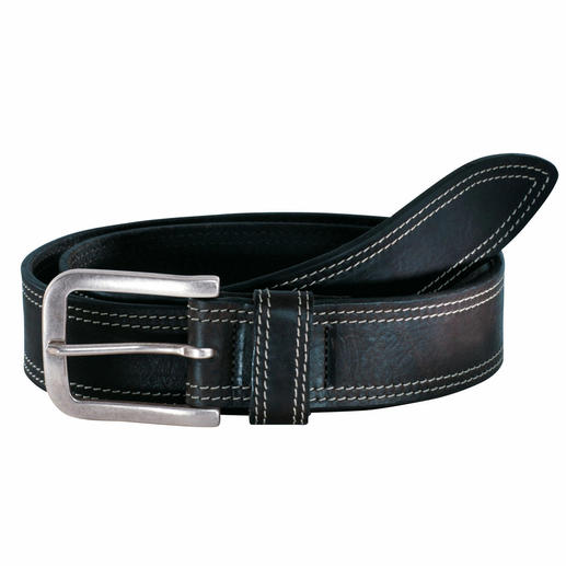 Tuscan Leather Belt The perfect jeans belt is made of rugged cowhide. Tanned and refined in Tuscany.