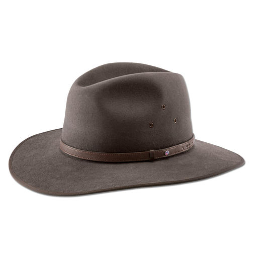 Akubra Hat The original Akubra, with a fine kangaroo-leather hatband and opal triplet.