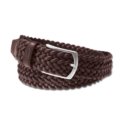 Elasticated Woven Leather Belt Great with leisure and business outfits. Handwoven in Spain. By Possum®.