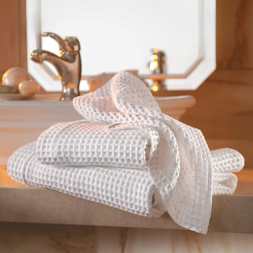 Waffle Weave Piqué Towels, Set of 2 Quite hard to find on a global scale  – yet a traditional classic in Italy.