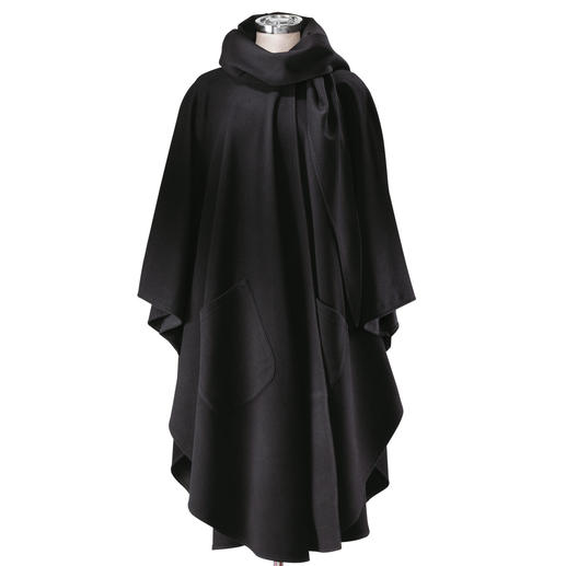 Cape Coat Cosy protection from the cold. Made from the finest Cashmere blend.