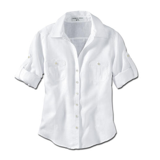 Albini Linen Roll-Up Blouse At long last an airy linen blouse that's smart and not too casual for the office.