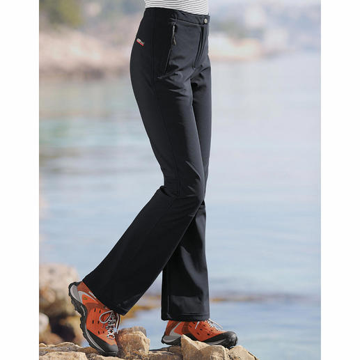 Softshell Trousers Thanks to softshell these trousers are slim, light and still warm. And good looking, too.