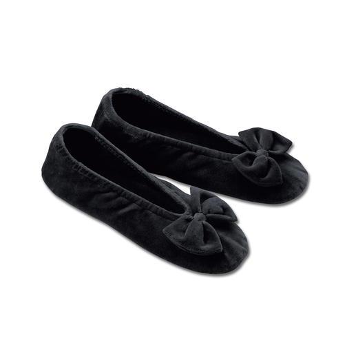 Velvet Ballerina Slippers Super comfy slippers – as elegant as ballerina pumps.