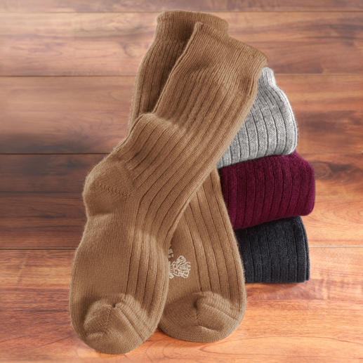 Corgi Cashmere Socks A rare luxury indeed: Dreamy soft, thick socks made of 100% 2-ply cashmere. Treat your feet after a hard day.