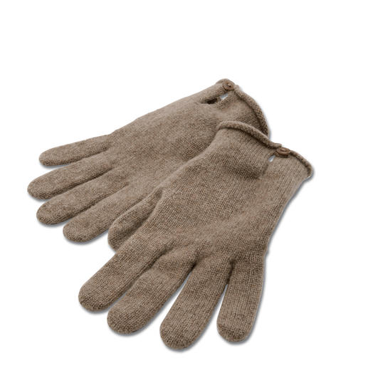 Gloves, Beige mottled