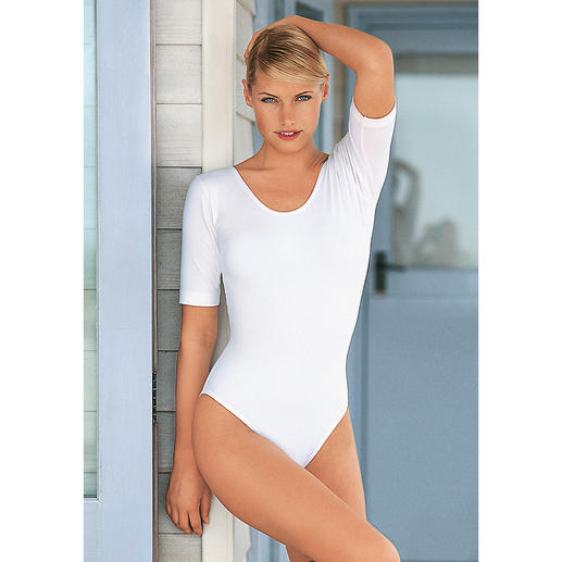 Ballet Body Made from skin-friendly cotton single jersey with 8% elastane for shape.