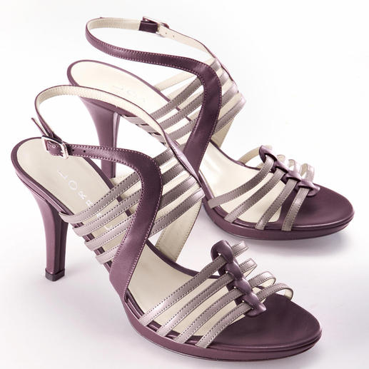 Lorbac Strap Sandals, Lilas An elegant sandal. Unexpectedly comfortable. A foam core shapes your own individual footbed.