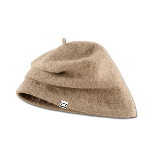 Ellen Paulssen Felt Beanie Contemporary shape. Fashionably casual fit. No more flat hair.
