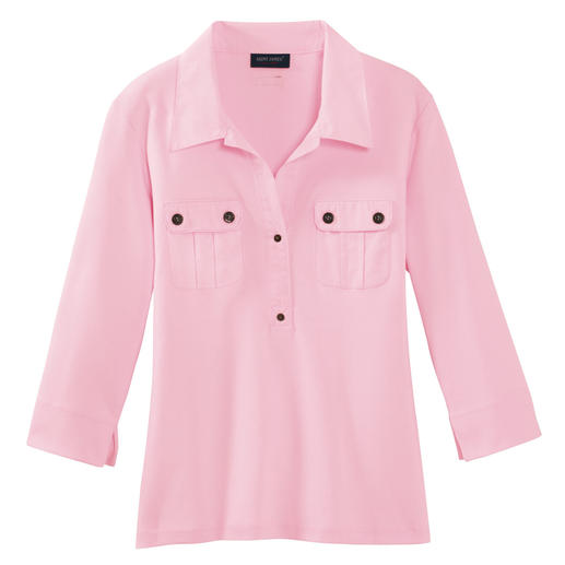 Saint James T-Shirt Blouse As stylish as a blouse – yet as versatile and low maintenance as a T-shirt.