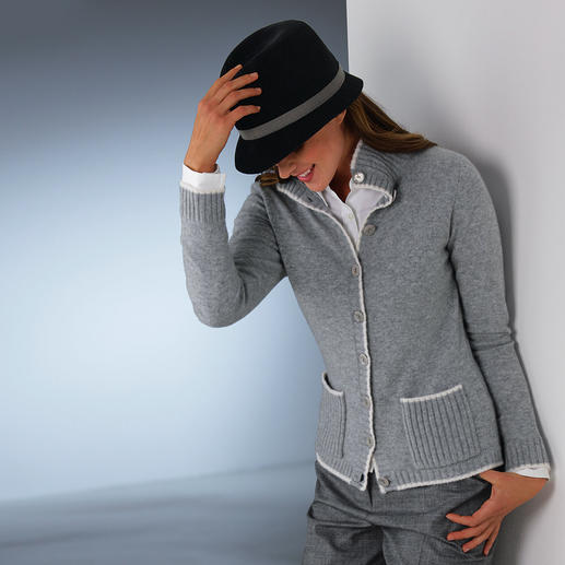 Two-Ply Cashmere Cardie Affordable luxury: The 2-ply cardigan in Mongolian cashmere.
