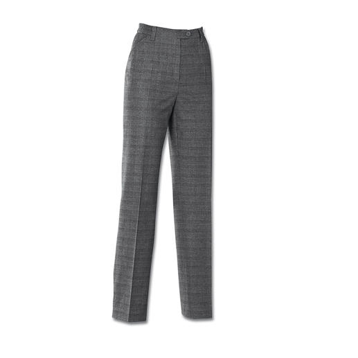 Machine Washable Glen Plaid Trousers - As elegant as finest wool cloth. As soft as cashmere. But as uncomplicated as denim.