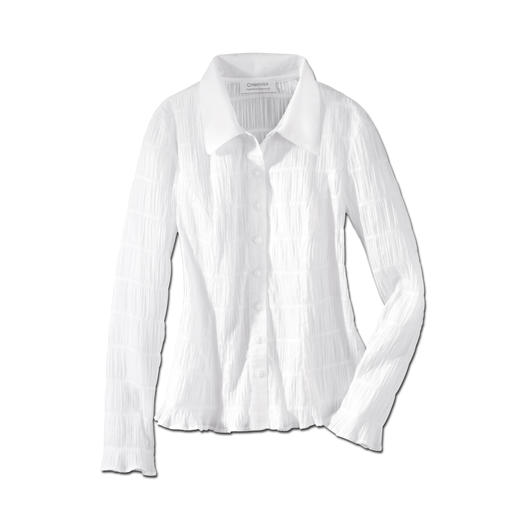 "Crash Blouse ""Easycare"" - Crashed fabric: Probably the most fuss-free white blouse you'll ever own."