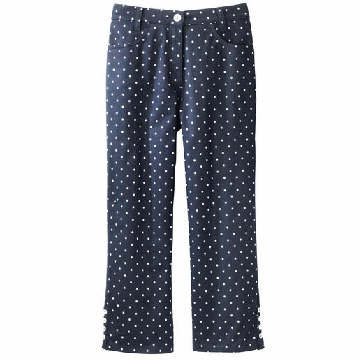 Michèle 7⁄8 Dot-Print Trousers - The eternal classic that's still hard to find: The 7/8 trousers with dot design.