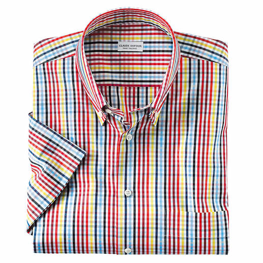 Summery Checked Short-Sleeved Shirt The summer shirt that combines with all plain separates.